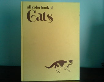 All Color Book of Cats, Vintage Children's Hardcover Book