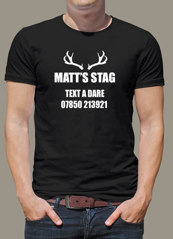 MENS STAG DO T-SHIRTS STAG PARTY PERSONALISED FUNNY CHEAP DESIGN TOPS CUSTOM D-1