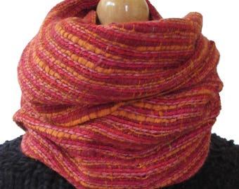 Pink/orange silk scarf