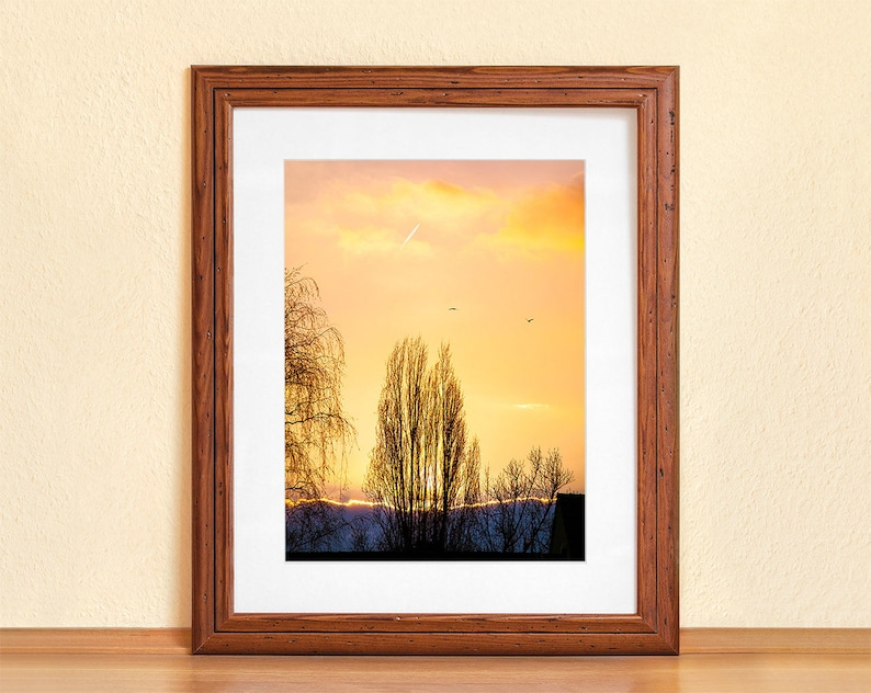 WINTER GOW // Photography Fine Art Print Sunset Cosy Winter image 0