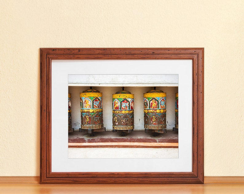 PRAYER WHEELS // Photography Fine Art Print Nepal Mantra image 0