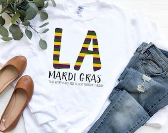 Mardi Gras Sweatshirt, Mardi Gras Sweater, Mardi Gras Shirt, Marid Gras Outfit, NOLA, New Orleans Attire, Mardi Gras Attire