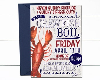Crawfish Boil Invitation, Crawfish Boil, Crab Boil, Crawfish Birthday, Crayfish, Mudbugs, Crawfish, Boil, Diaper Party, Couples Shower