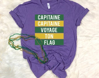 Mardi Gras Shirt, Mardi Gras T-shirt, Captaine, New Orleans Mardi Gras, NOLA, Mardi Gras Attire, Fat Tuesday, New Orleans, Bourbon Street