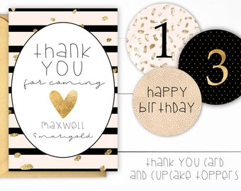 Golden Birthday Party Favors