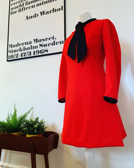 Vintage mod 1960s dress