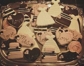 Bridal Shower - Decorated Sugar Cookies - 1 Dozen