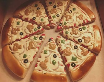 Pizza Decorated Sugar Cookies - 1 dozen