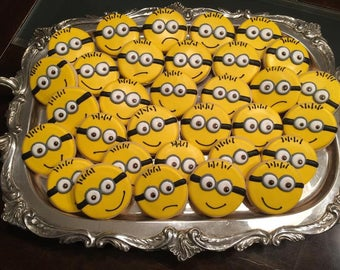 Minion Sugar Cookies - ONE Dozen