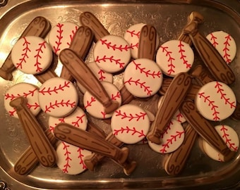 Baseball Cookies - ONE Dozen