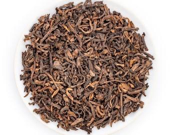 Imperial Menghai Ripe Pu Erh Tea Loose Leaf, Shu Puerh Aged Black Yunnan Tea, Yunnan Pu-erh Tea Leaves Chinese Puer
