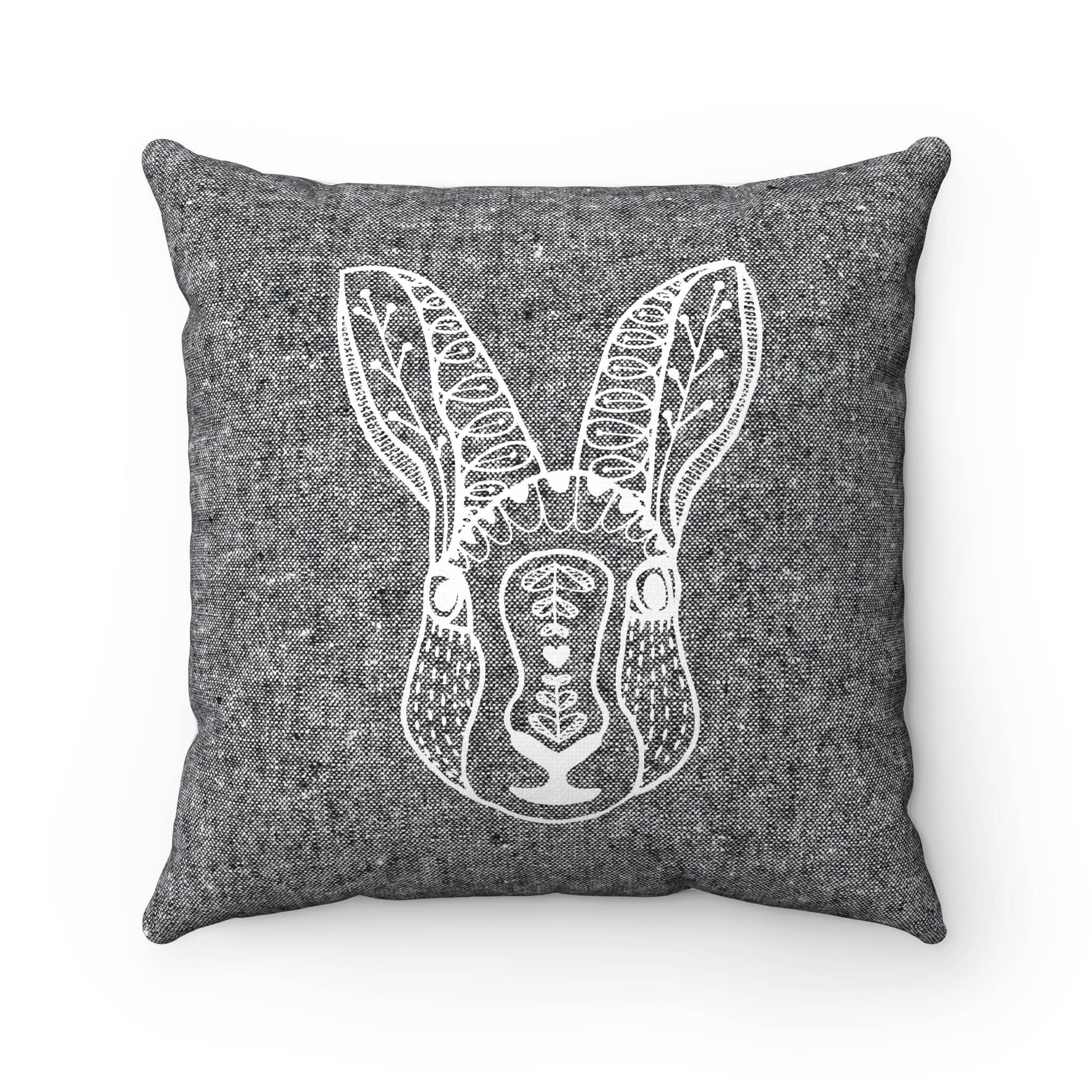 Coussin imprim lapin scandinave coussin housse de 14 etsy - Housse coussin rectangulaire scandinave ...