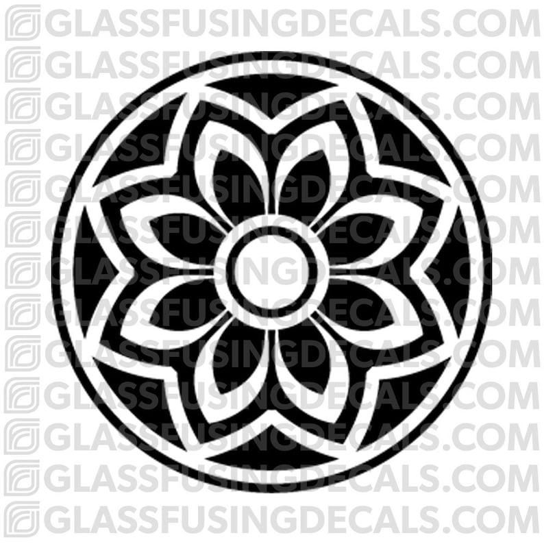 Sakura Wheel 11  Glass Fusing Decal for Glass Ceramics and image 0