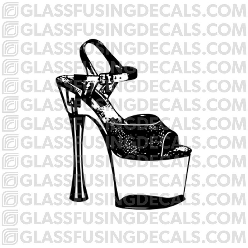 Aerials  Pole Dance Shoe Glass Fusing Decal for Glass or image 0