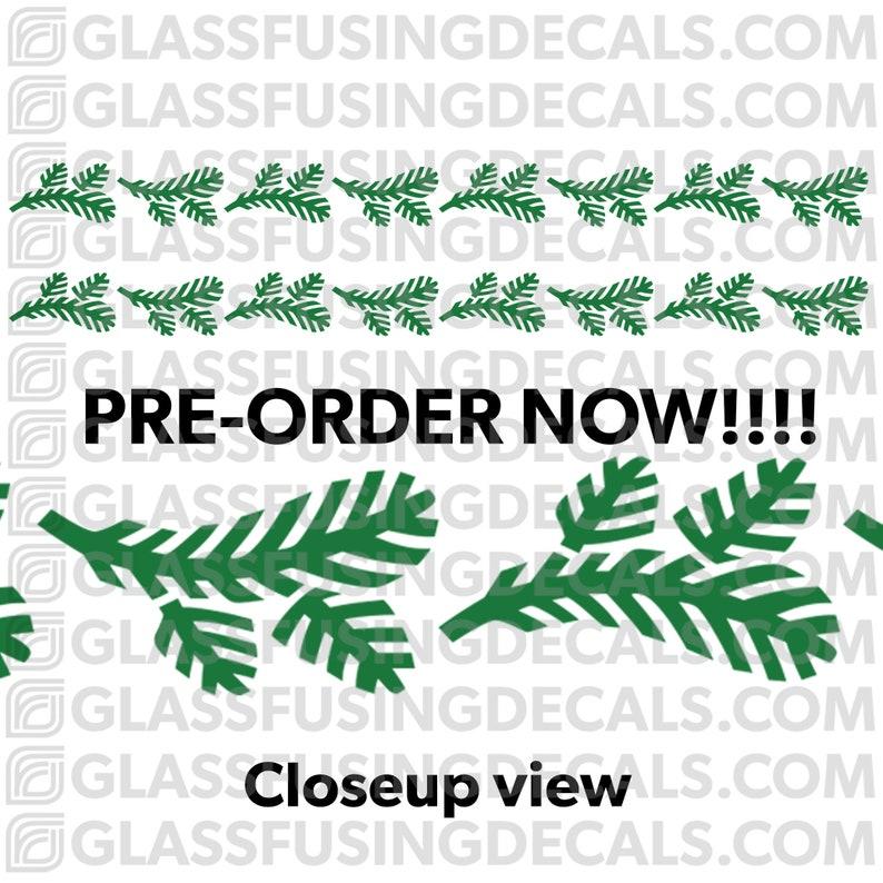 PRE-ORDER  Pine Branch Garland Large Border COLOUR Glass image 0