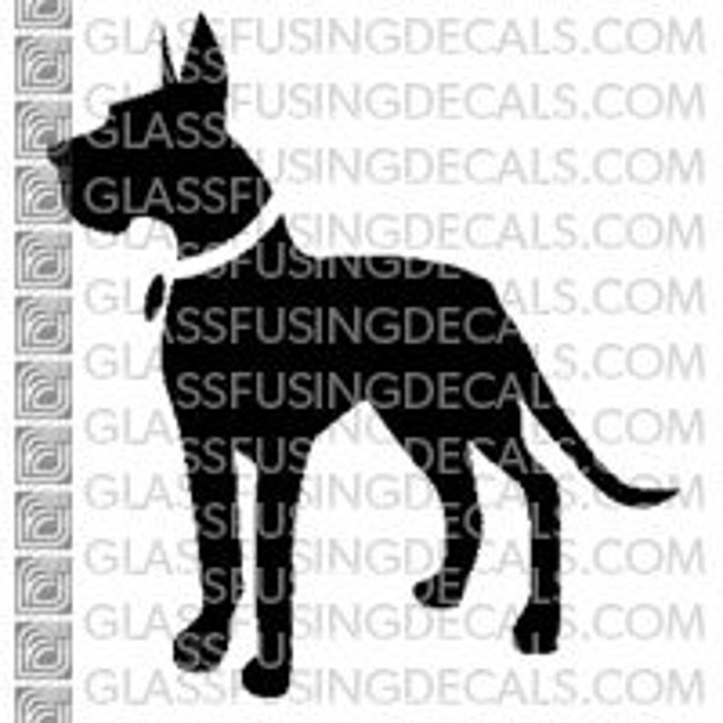 Dogs  Great Dane 1 Glass Fusing Decal for Glass Enamelling image 0