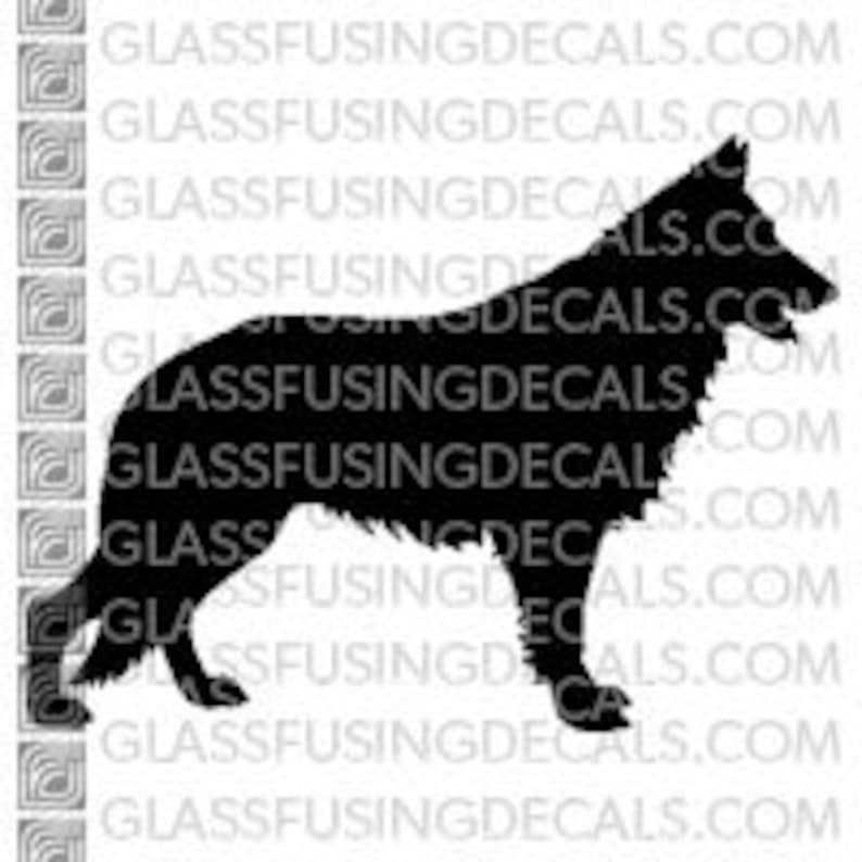 Dogs  White Shepherd 3 Glass Fusing Decal for Glass image 0