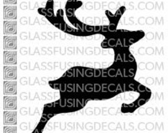 Reindeer 1 - Glass Fusing Decal for Glass, Ceramics, and Enamelling