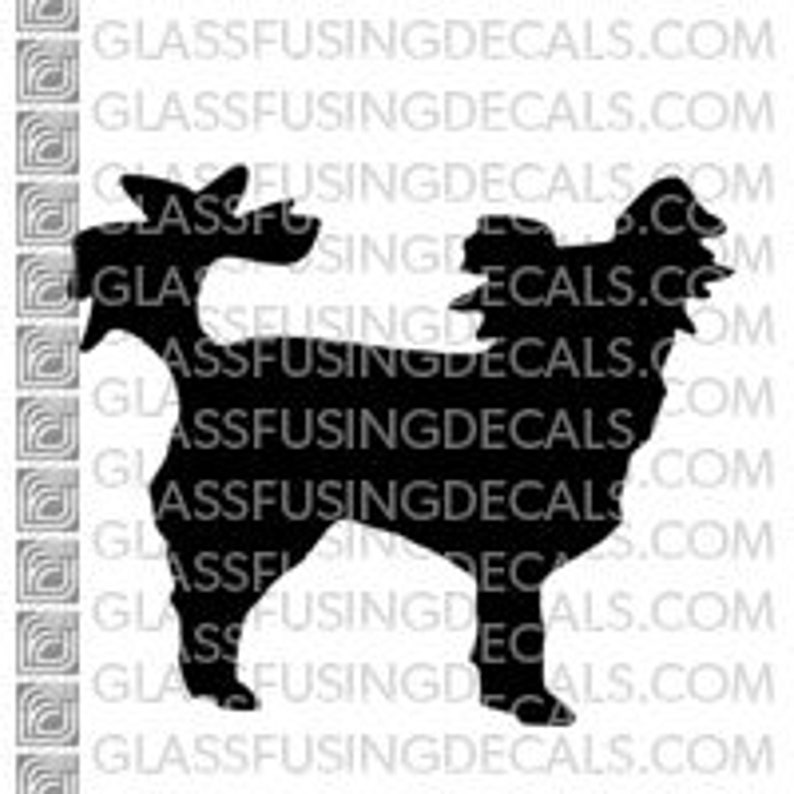 Dogs  Chihuahua Glass Fusing Decal for Glass Enamelling or image 0