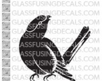 Songbird 3 -  Glass Fusing Decal for Glass, Ceramics, and Enamelling