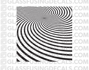 Vortex Mini Pattern Glass Fusing Decal for Glass, Ceramics, and Enamelling