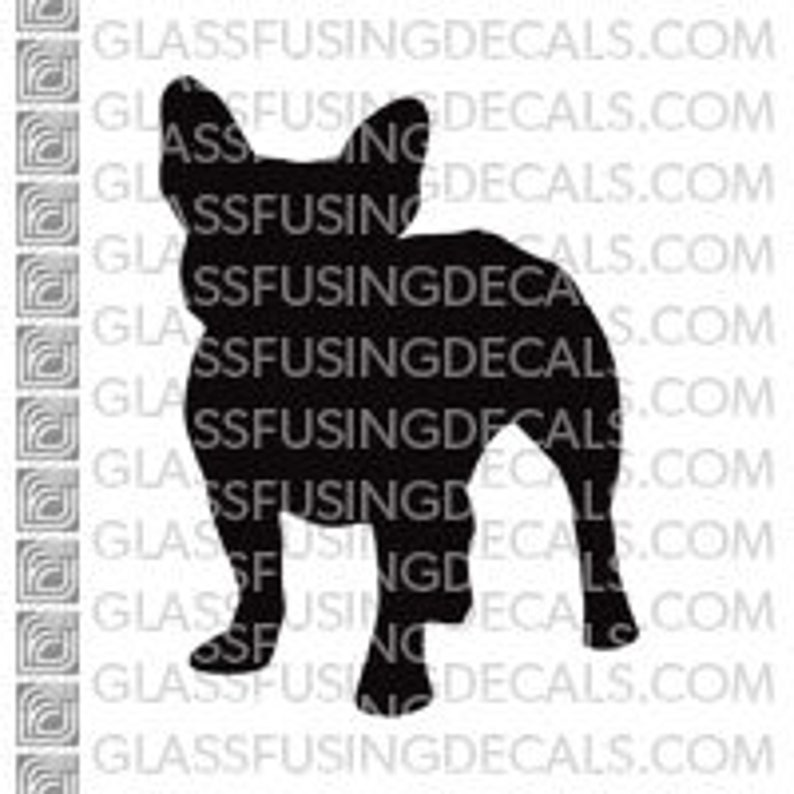 Dogs  French Bulldog Glass Fusing Decal for Glass image 0