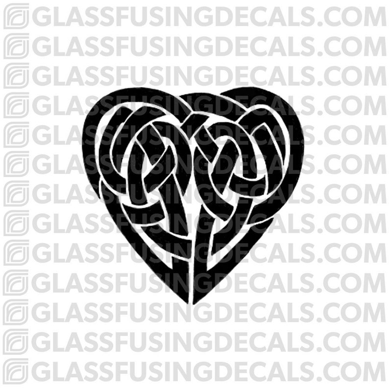Celtic Heart 1 Glass Fusing Decal for Glass or Ceramics image 0