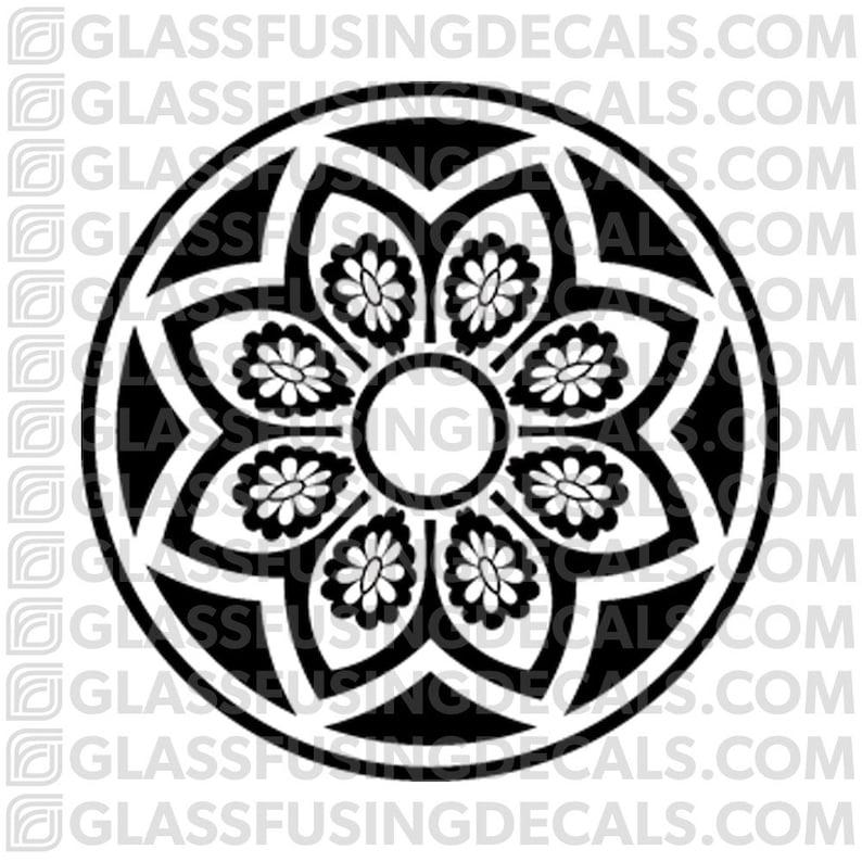 Sakura Wheel 4  Glass Fusing Decal for Glass Ceramics and image 0