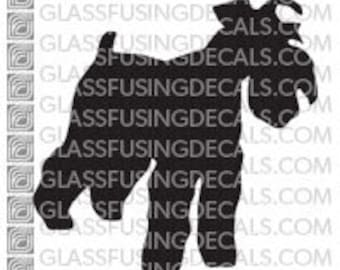 Dogs - Terrier Glass Fusing Decal for Glass, Enamelling, or Ceramics