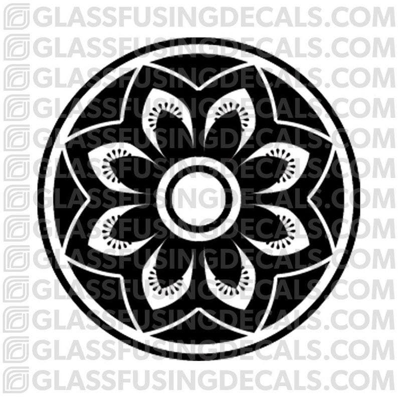 Sakura Wheel 13  Glass Fusing Decal for Glass Ceramics and image 0