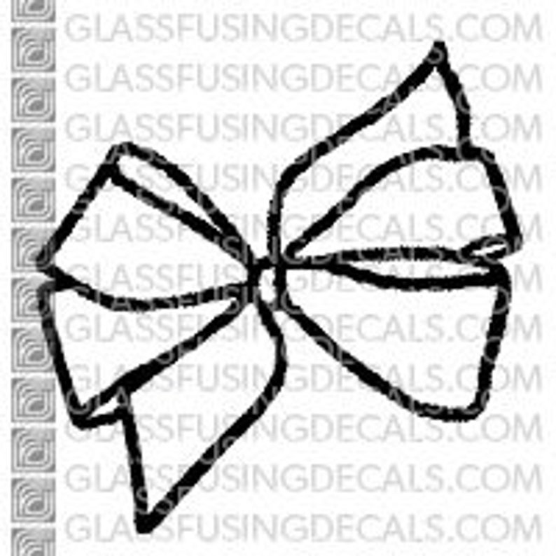 Fancy Bow  Glass Fusing Decal for Glass Ceramics and image 0