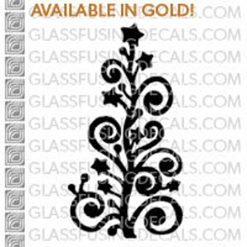 Christmas Tree 1  Glass Fusing Decal for Glass Ceramics and image 0