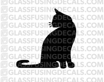 Cat 1 Glass Fusing Decal for Glass or Ceramics