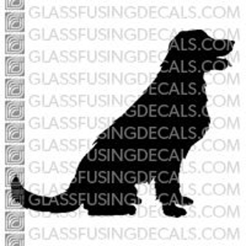 Dogs  White Shepherd 2 Glass Fusing Decal for Glass image 0