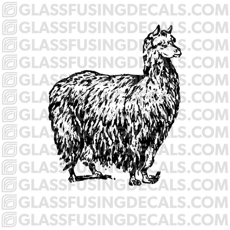 Alpaca Glass Fusing Decal for Glass or Ceramics image 0
