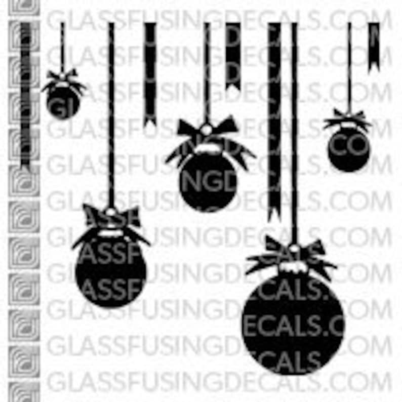 Ornaments 2   Glass Fusing Decal for Glass Ceramics and image 0
