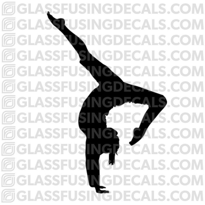 Yoga 2  Handstand 1 Glass Fusing Decal for Glass or Ceramics image 0