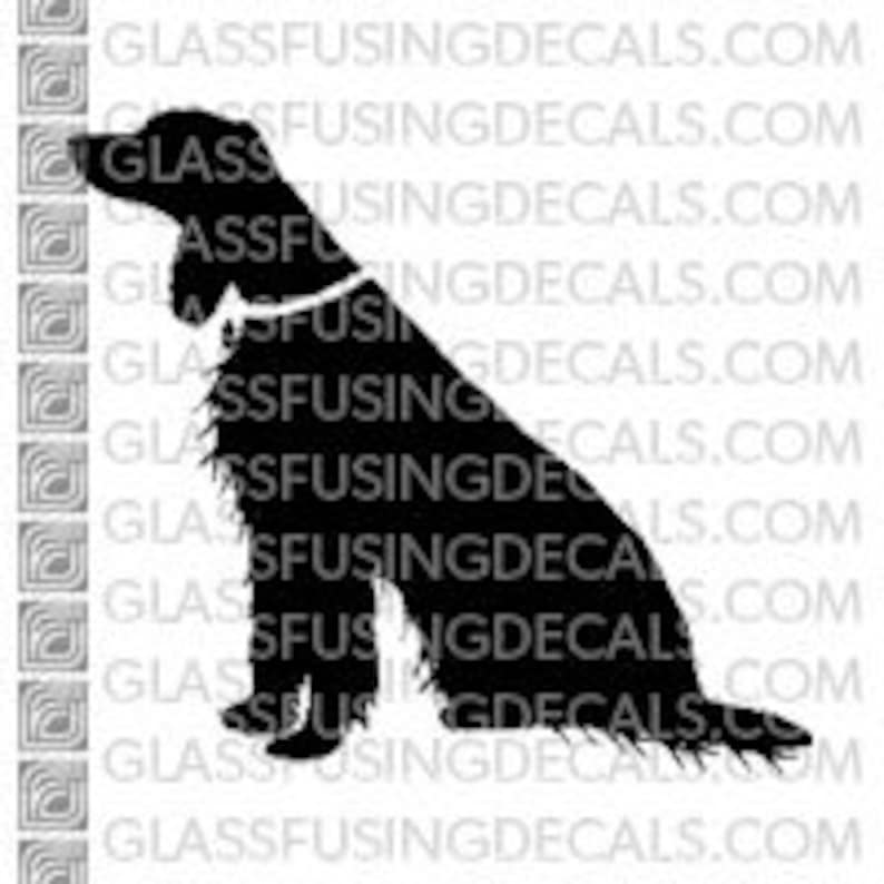 Dogs  Irish Setter 2 Glass Fusing Decal for Glass image 0