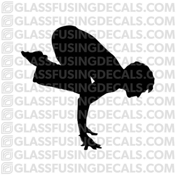 Needle Pose 2 Glass Fusing Decal for Glass or Ceramics Yoga 11