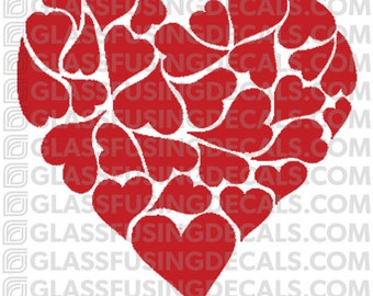 Fancy Heart 2 -  Glass Fusing Decal for Glass or Ceramics