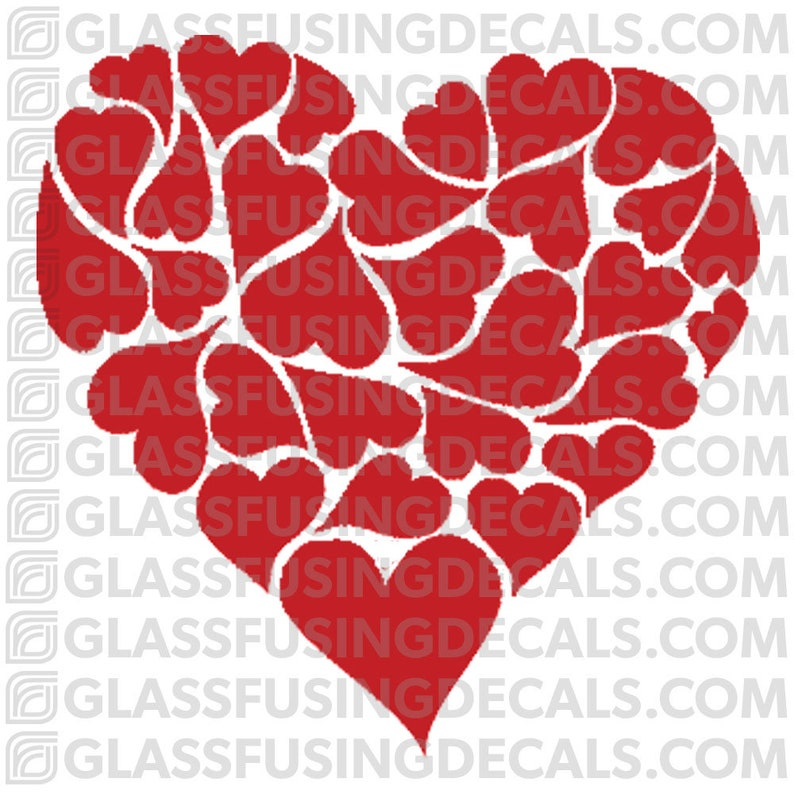 Fancy Heart 2   Glass Fusing Decal for Glass or Ceramics image 0