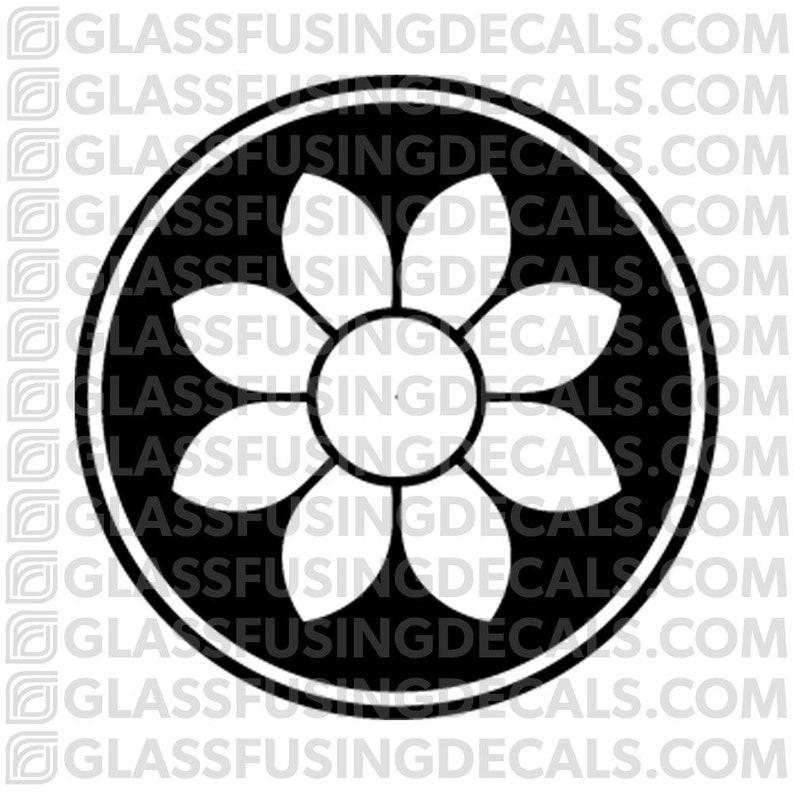 Sakura Wheel 7  Glass Fusing Decal for Glass Ceramics and image 0