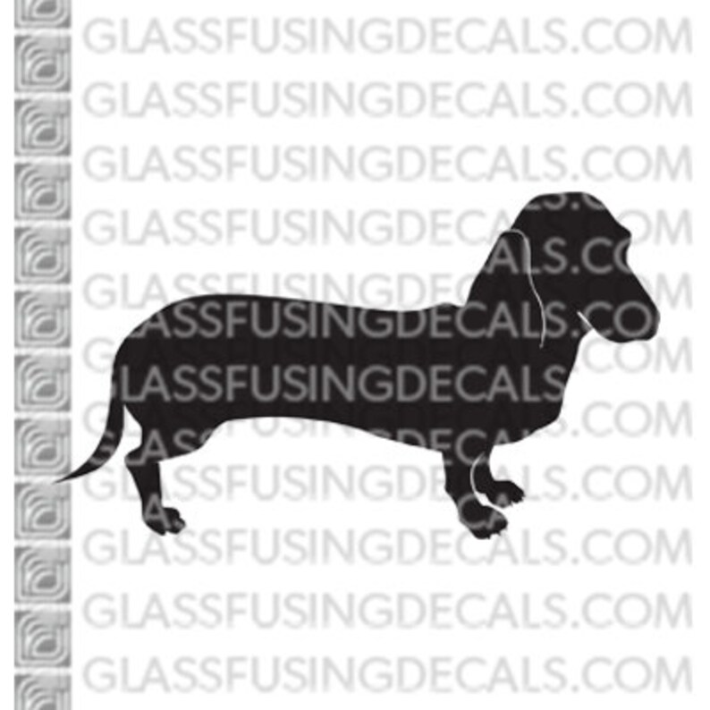 Dogs  Dachshund Weiner Dog Glass Fusing Decal for Glass image 0