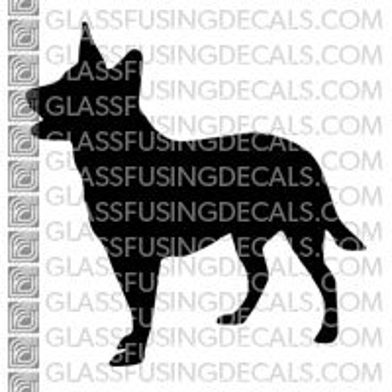 Dogs  Australian Cattle Dog Glass Fusing Decal for Glass image 0