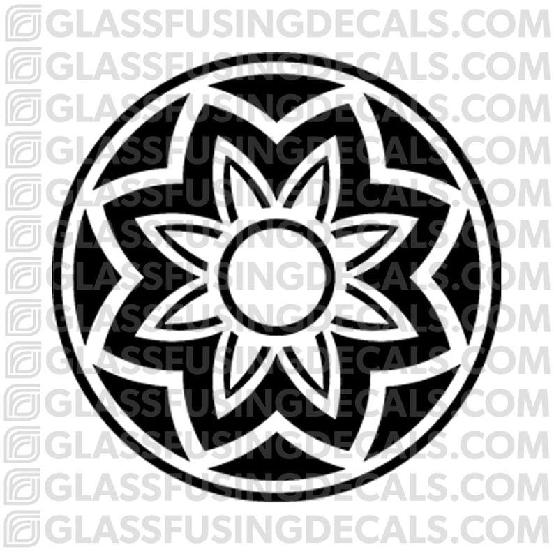 Sakura Wheel 3  Glass Fusing Decal for Glass Ceramics and image 0