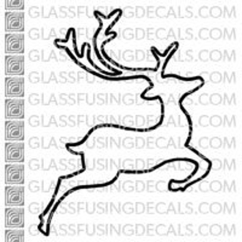 Reindeer 2  Glass Fusing Decal for Glass Ceramics and image 0