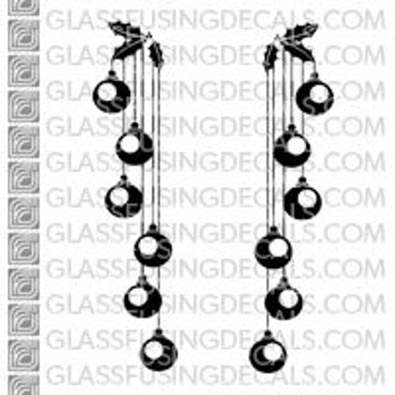 Ornaments 1  Glass Fusing Decal for Glass Ceramics and image 0
