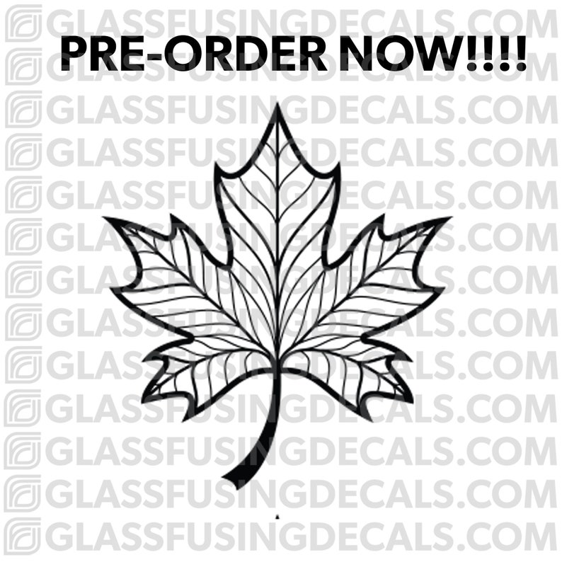 Maple Leaf 2 Glass Fusing Decal for Glass Ceramics and image 0