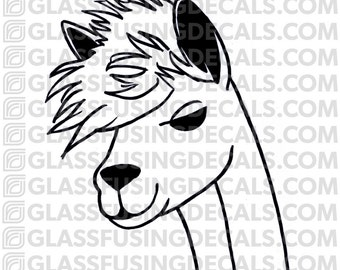 Alpaca Haircuts 4 Glass Fusing Decal for Glass or Ceramics