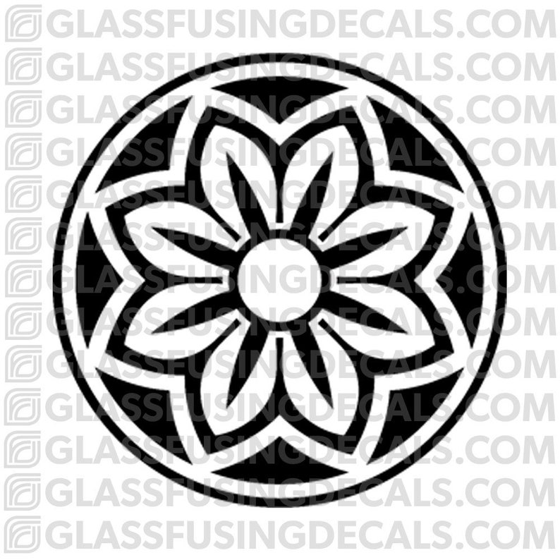 Sakura Wheel 2  Glass Fusing Decal for Glass Ceramics and image 0